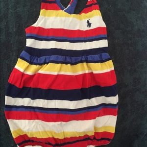Ralph Lauren striped baby one piece